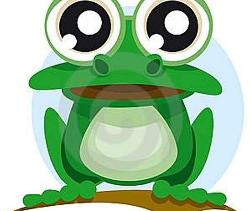 Big eyes frog tattoo design