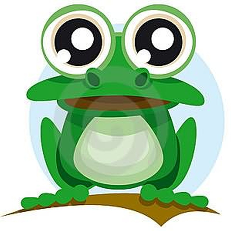 Big eyes frog tattoo design