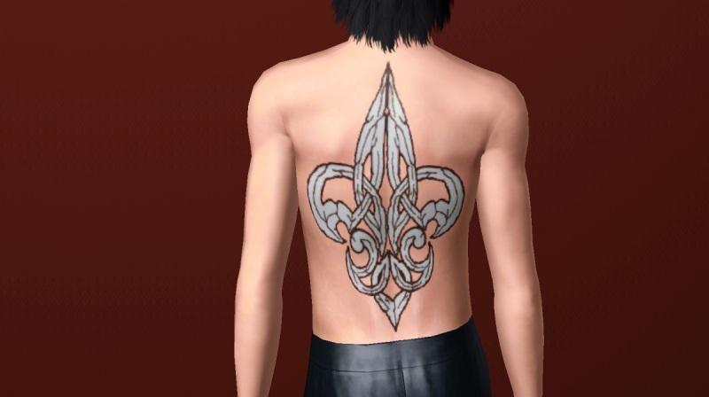 Big fleur de lis tattoo for your back