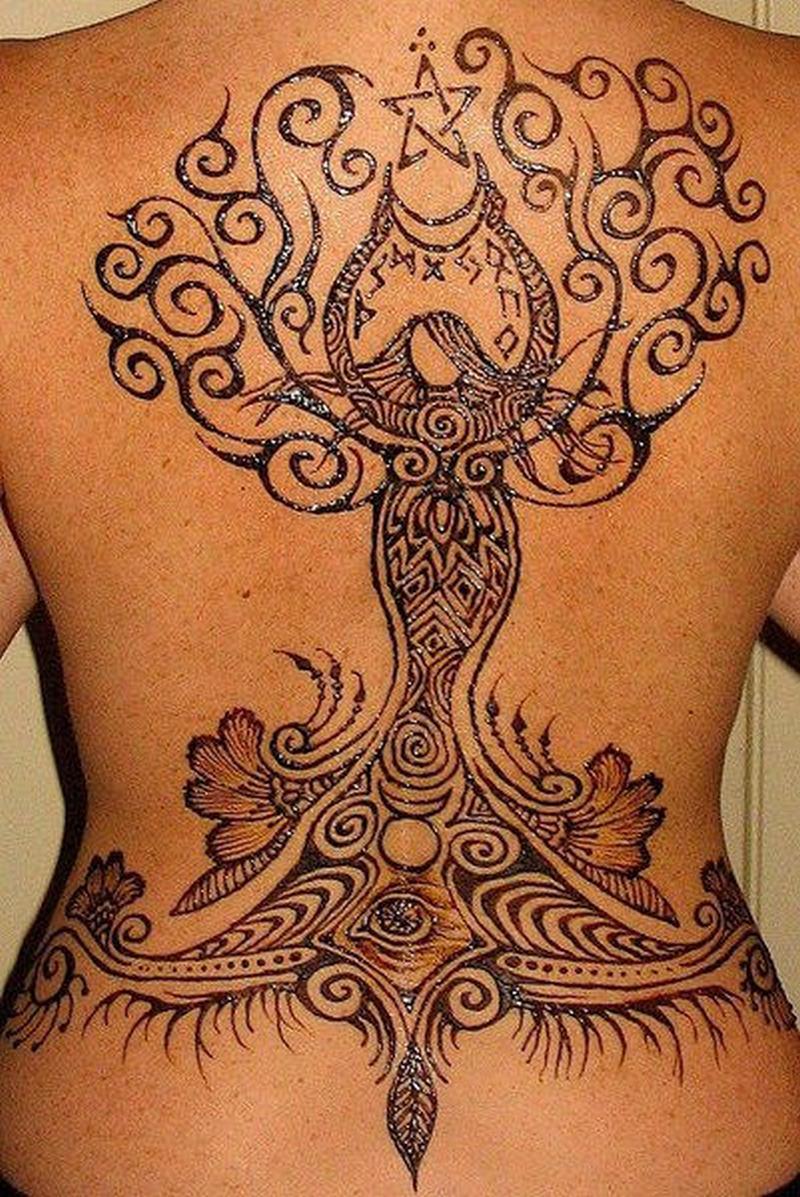 5c9ca08e5 Big henna design on back body 1 tattoo - Tattoos Book - 65.000 ...