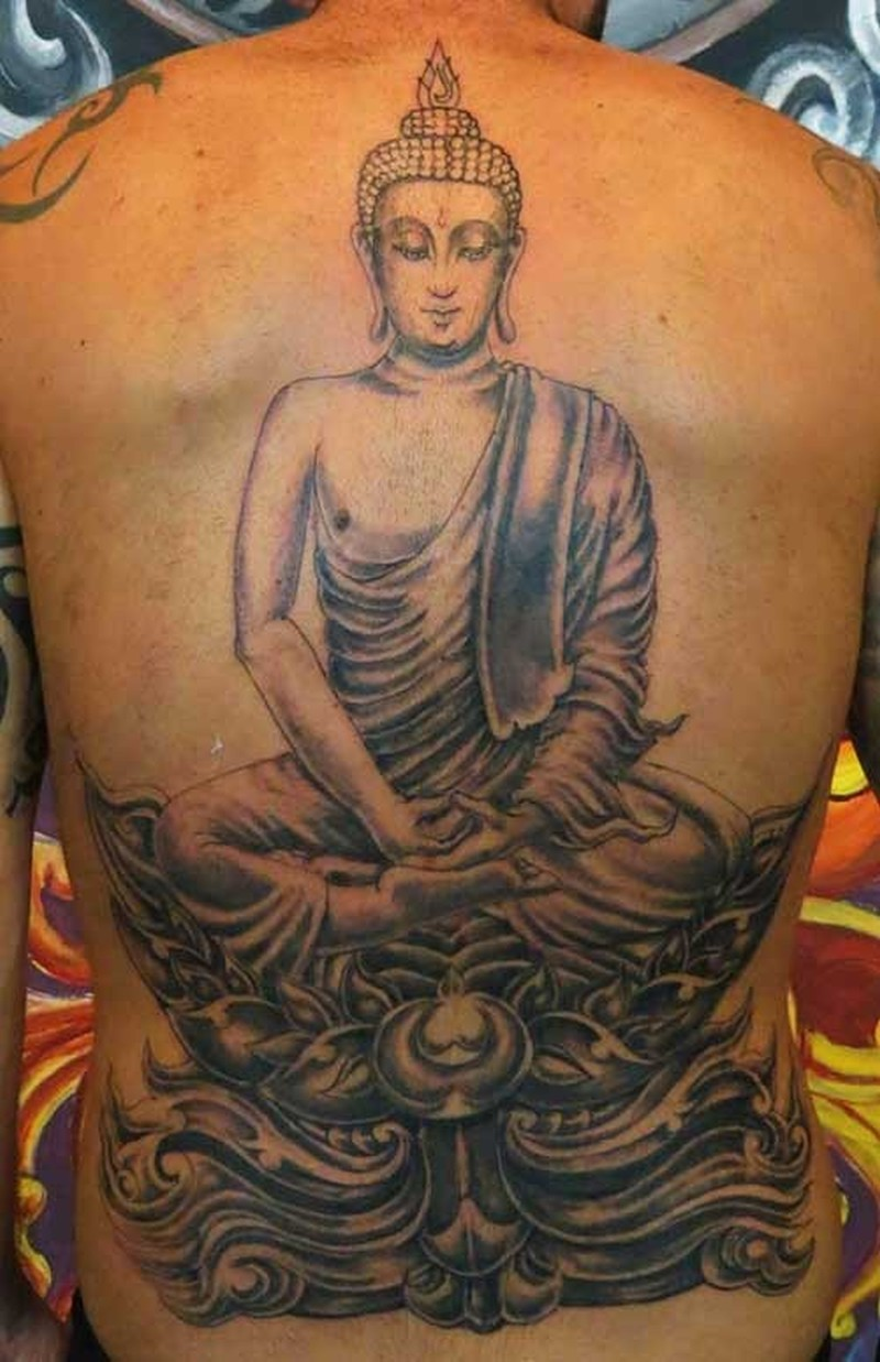 27e12f4058d46 Big meditating buddha tattoo on back - Tattoos Book - 65.000 Tattoos ...