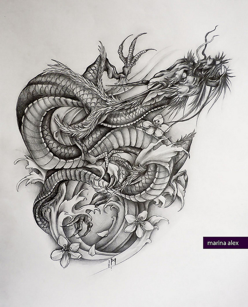 big tattoo design of asian dragon tattoos book. Black Bedroom Furniture Sets. Home Design Ideas