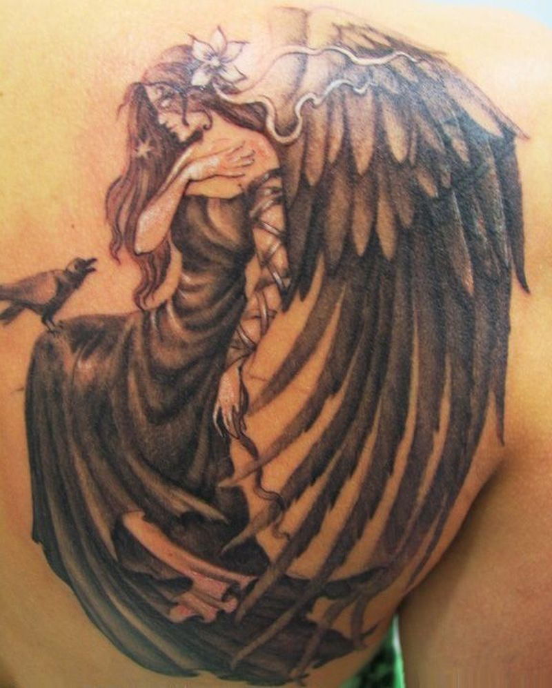 Big wing angel tattoo