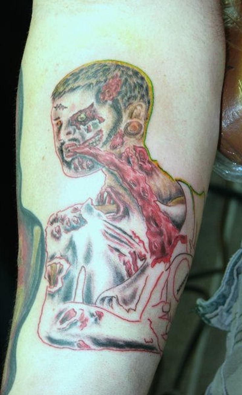 Biochemical alien tattoo design
