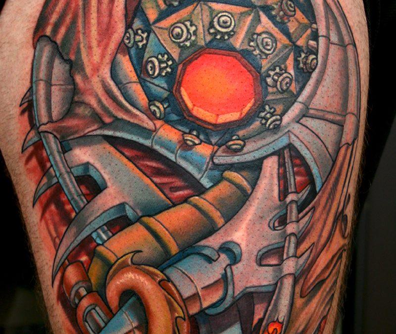 Biomechanical tattoo for biceps