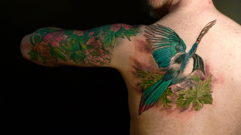 Dahlia Flower Tattoo Design