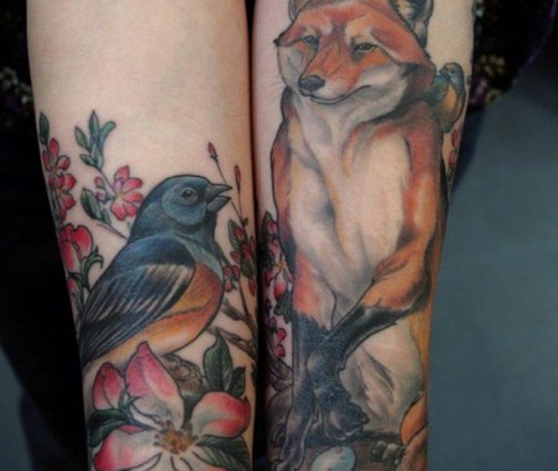 Bird wolf tattoo image