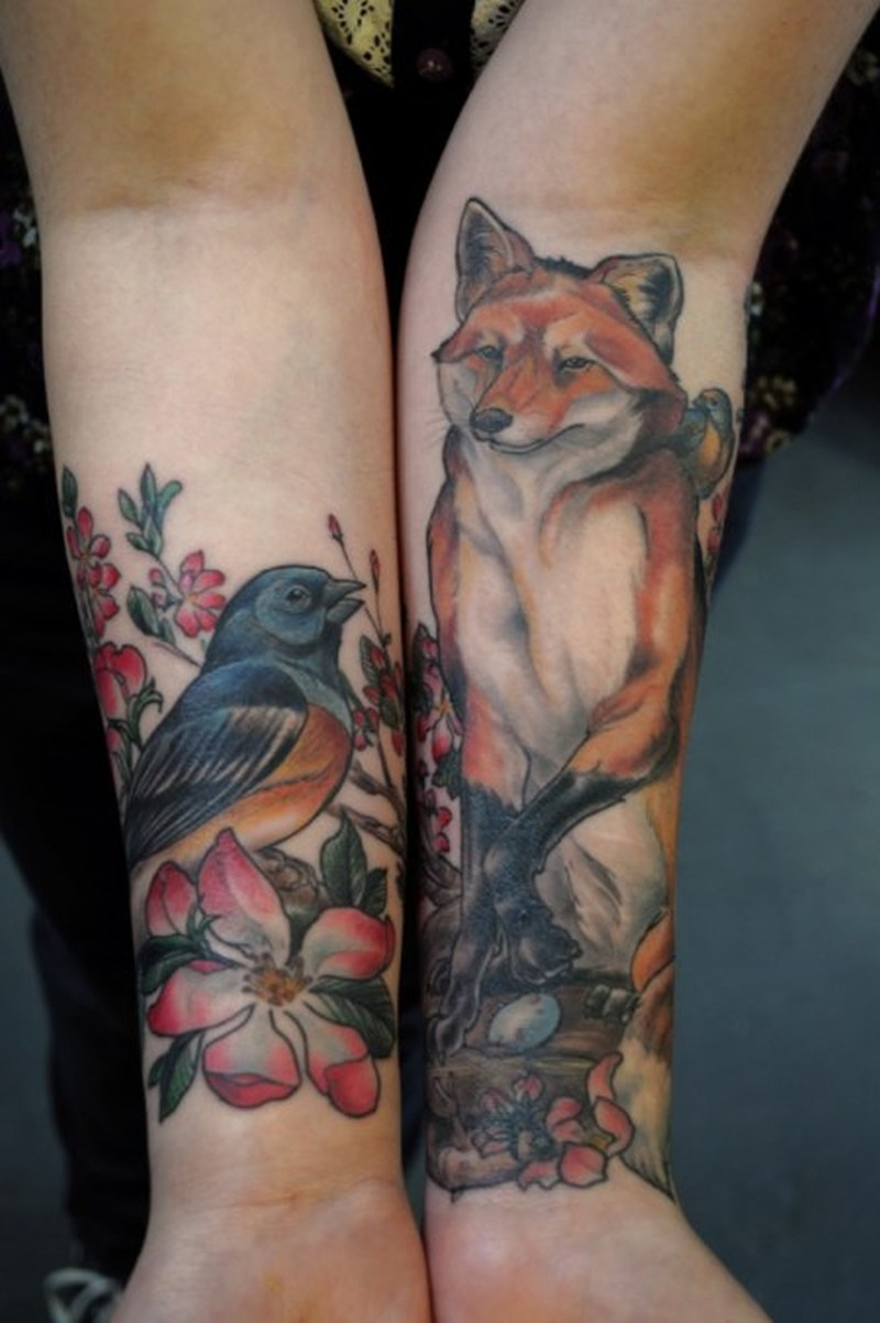 Bird wolf tattoo image
