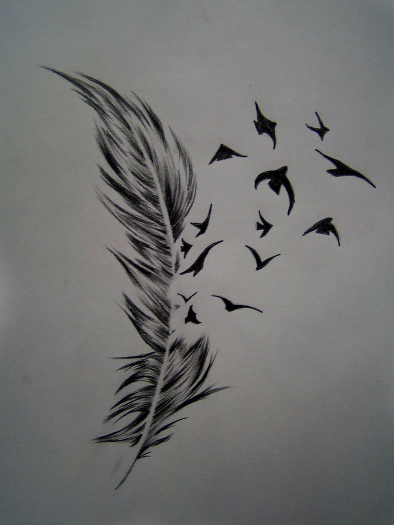 Birds of a feather tattoo design
