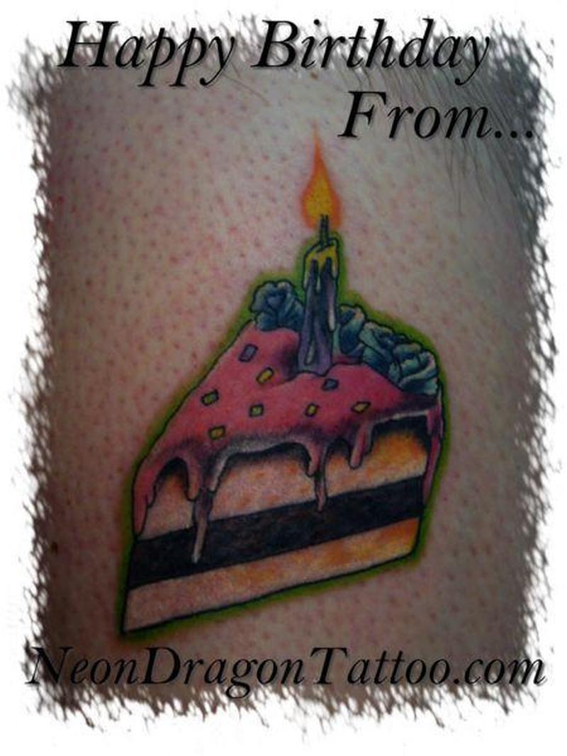 Birthday cake tattoo image