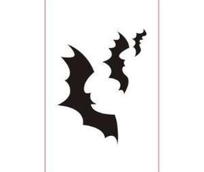 Black bats tattoo design