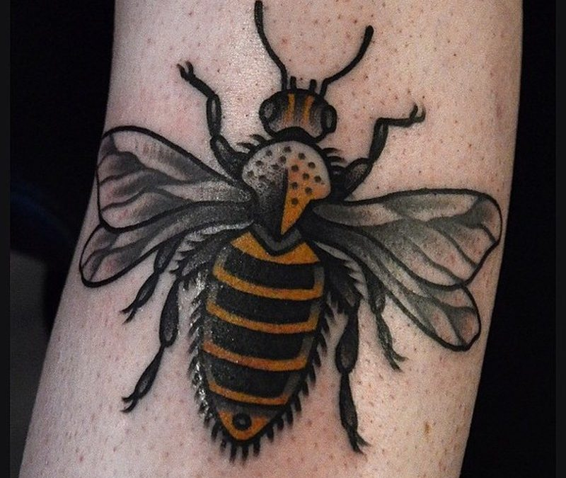 Black bumblebee image 1 tattoo