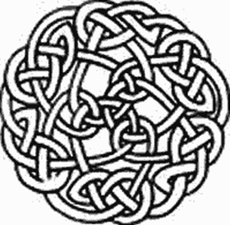 Black celtic knot tattoo