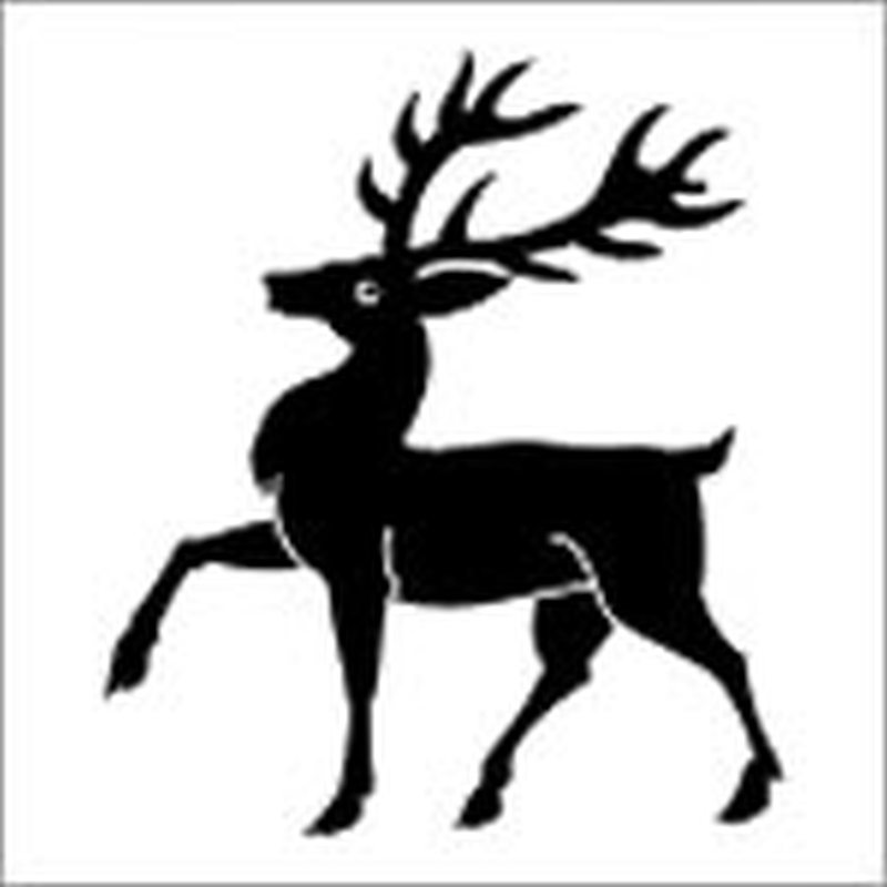 Black deer tattoo sample