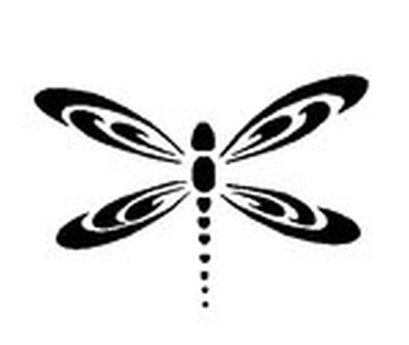 Black dragonfly tattoo design