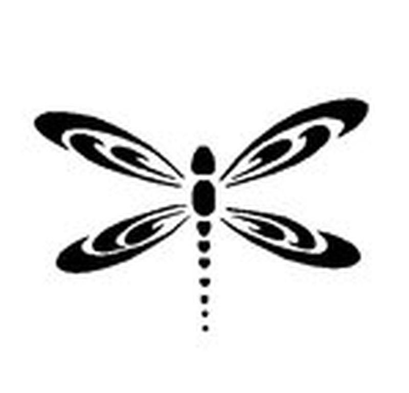 Black dragonfly tattoo design