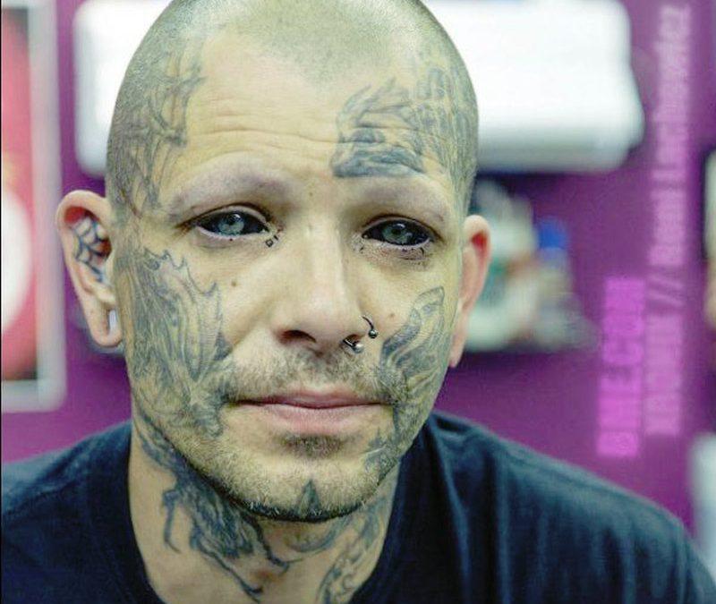Black eyes tattoo design