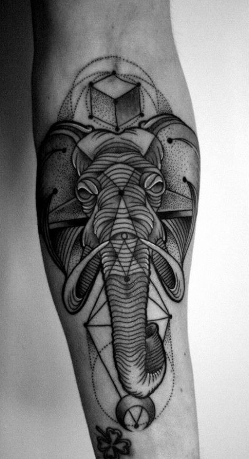 black graphic elephant forearm tattoo tattoos book tattoos designs. Black Bedroom Furniture Sets. Home Design Ideas