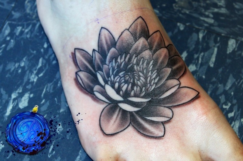Black Lotus Flower Tattoo On Foot Tattoos Book 65000 Tattoos