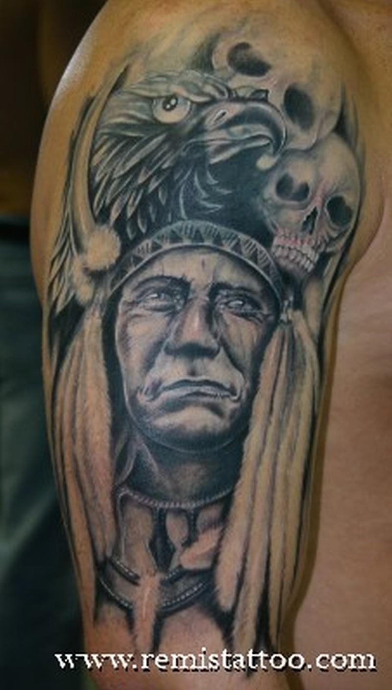 black n grey ink indian tattoo on arm tattoos book 65