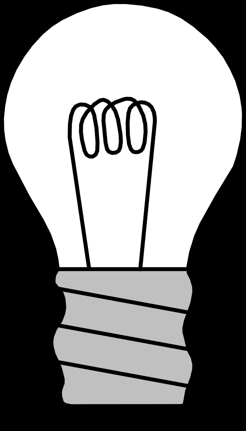 Black white line art bulb tattoo