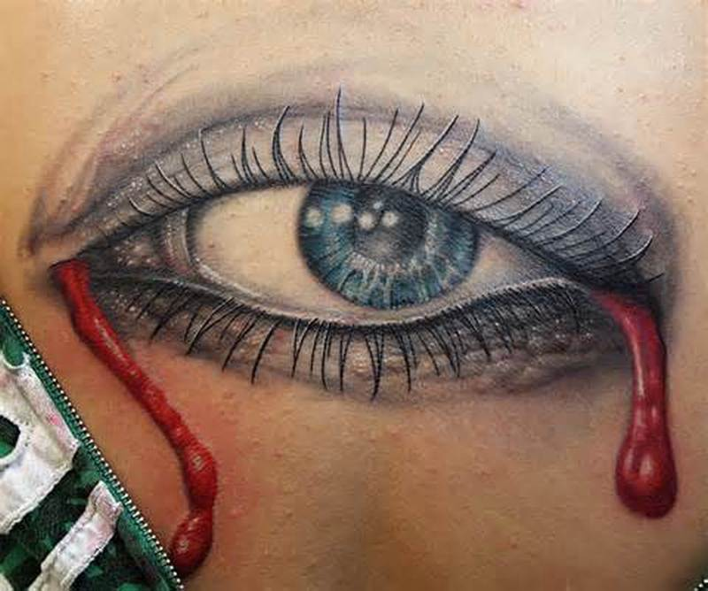 Bleeding eye tattoo design