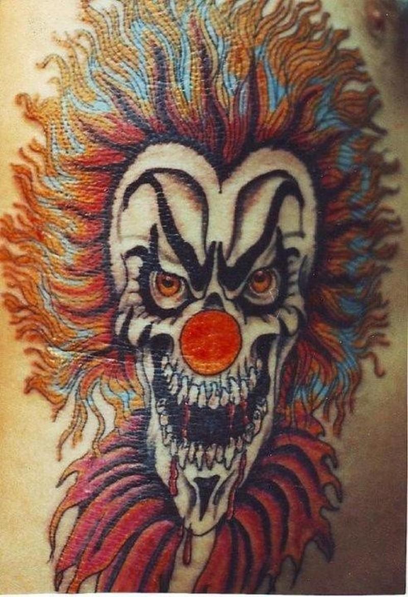 bloodthirsty killer clown tattoo � tattoos book