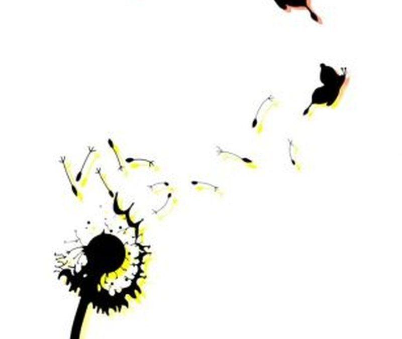 Blow dandelion birds tattoo