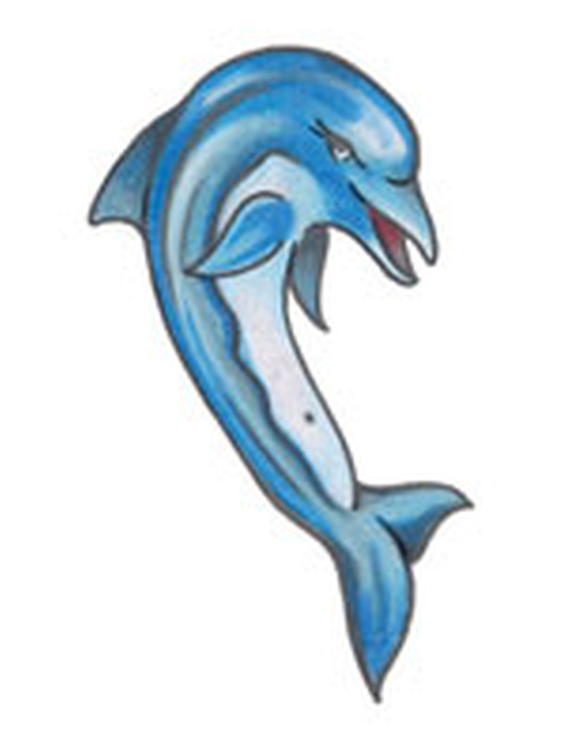 Blue dolphin design 1 tattoo