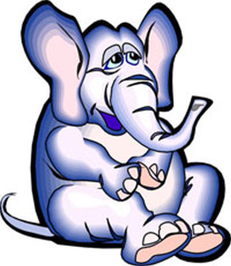Blue elephant tattoo design