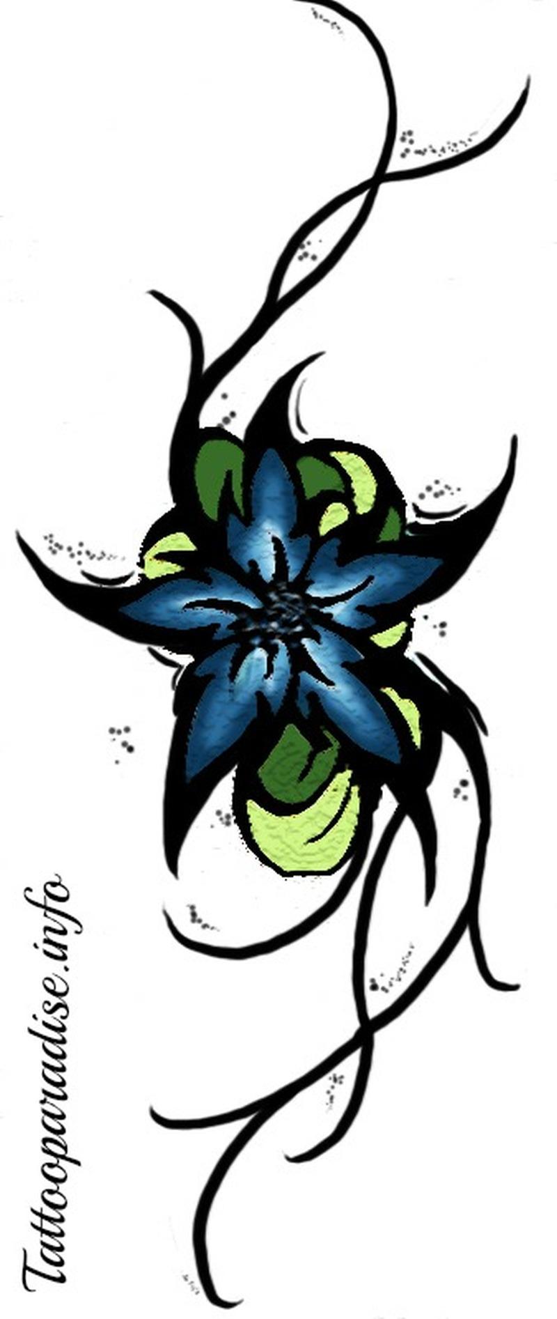 Blue flower tattoo stencil tattoos book 65000 tattoos designs blue flower tattoo stencil izmirmasajfo