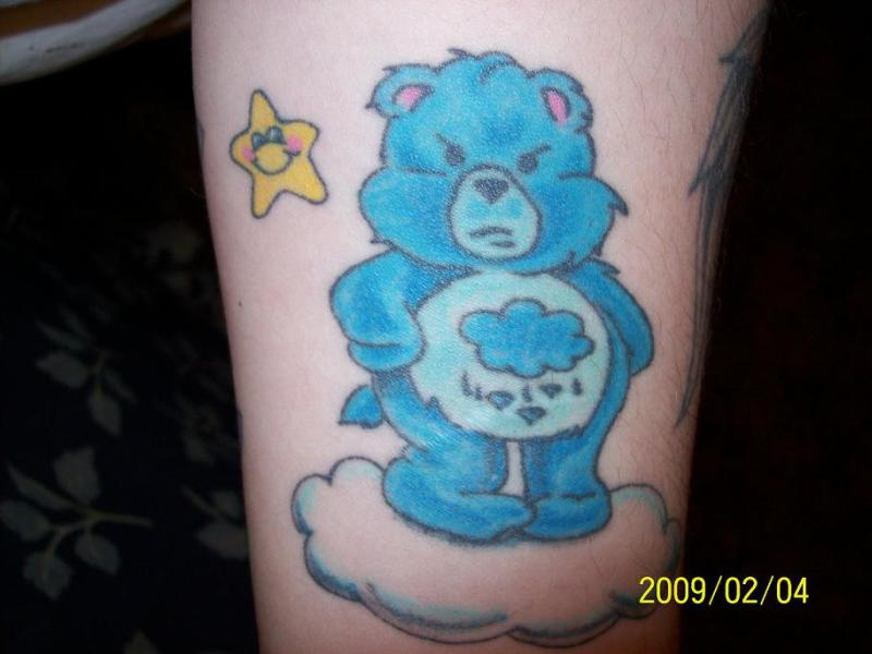 blue teddy bear tattoo tattoos book tattoos designs. Black Bedroom Furniture Sets. Home Design Ideas
