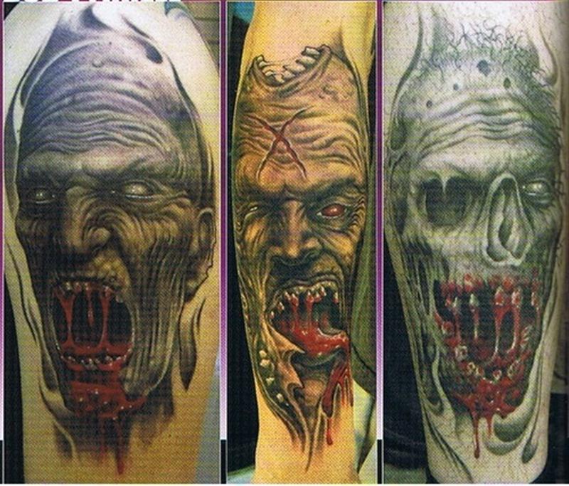 Bob tyrrell horror tattoo design