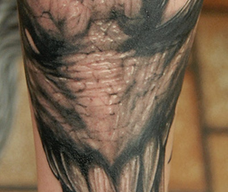 Body art alien tattoo
