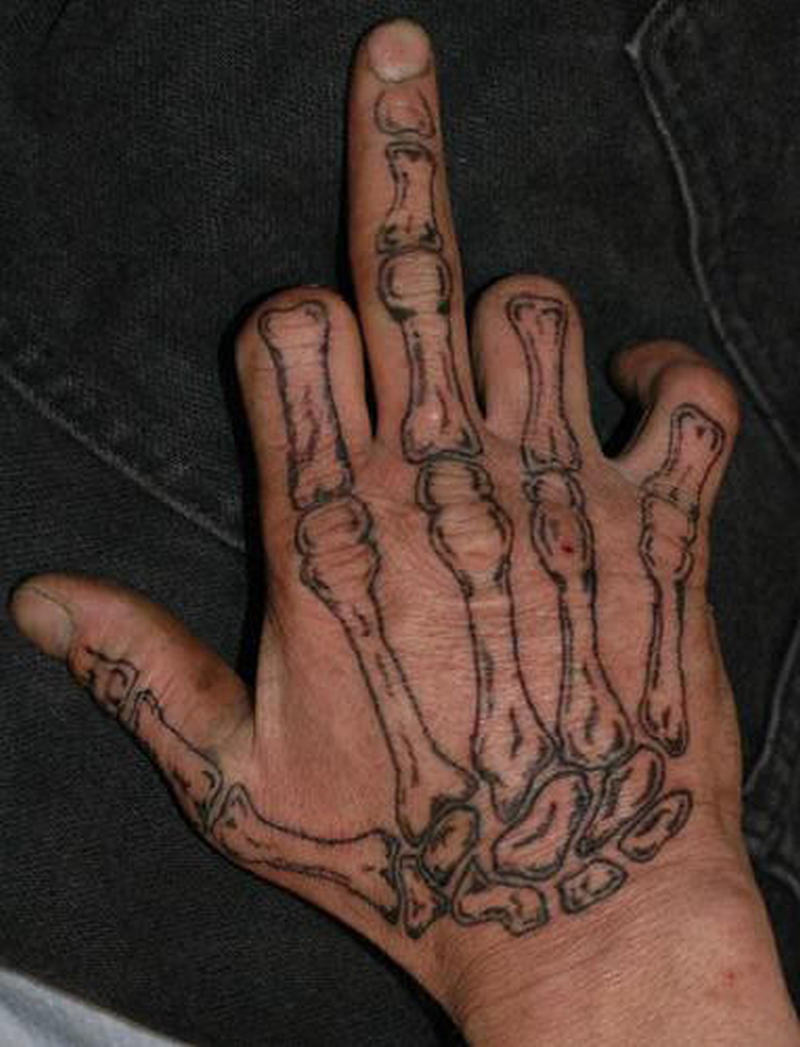 Bones hand tattoo design