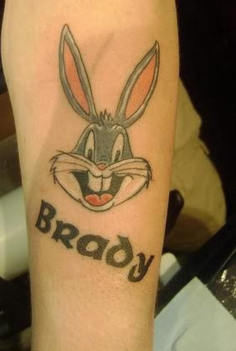Brady cartoon tattoo