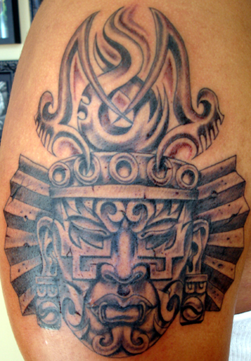 795021505 Brilliant aztec mask tattoo design - Tattoos Book - 65.000 Tattoos ...