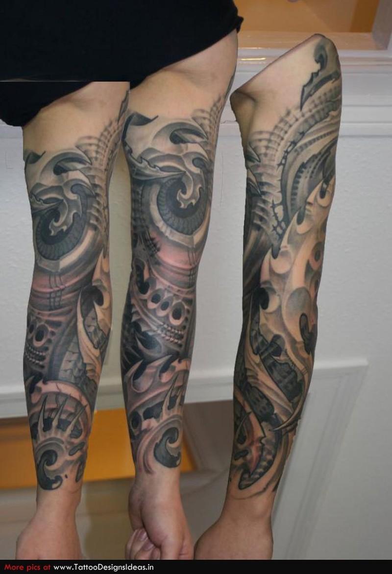 2fa320495 Brilliant biomechanical tattoo design for arm - Tattoos Book ...