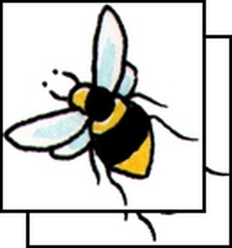 Brilliant bumblebee tattoo design