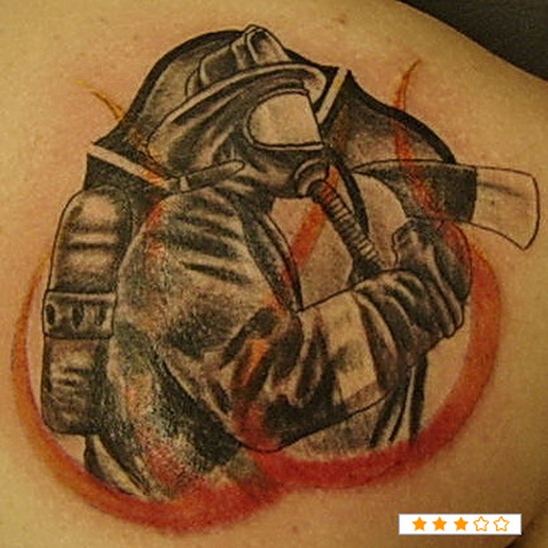 Brilliant firefighter tattoo design