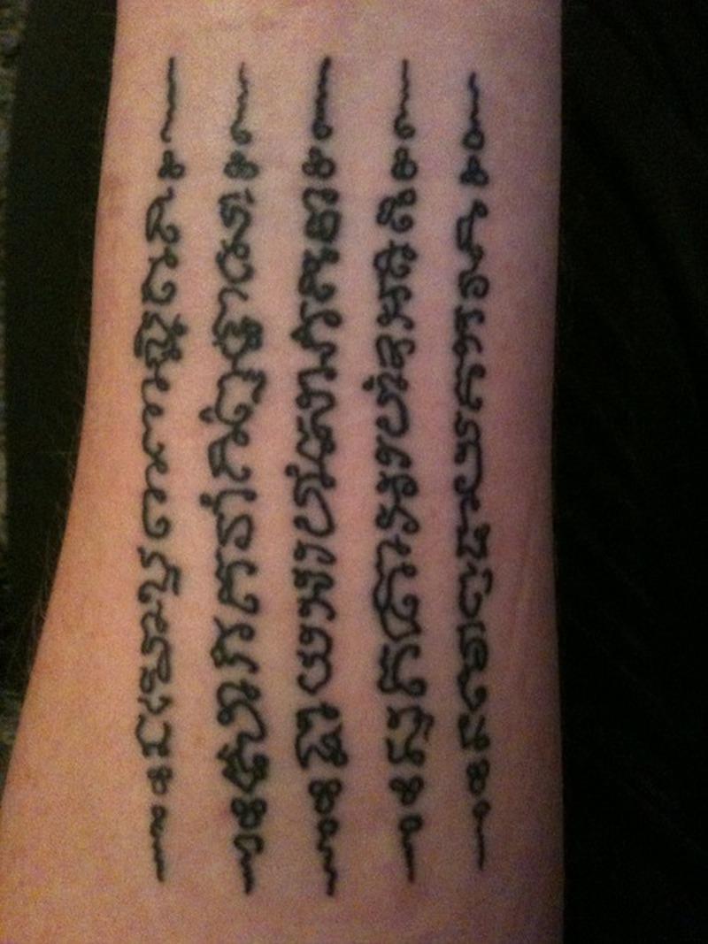 Brilliant tattoo design of buddhist