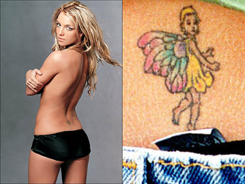 Britneys fairy tattoo