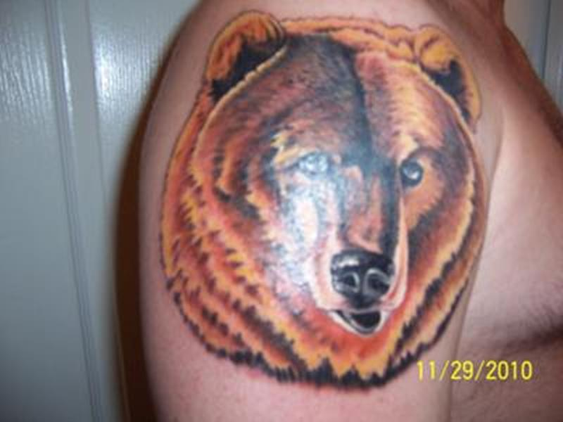 Brutus grizzly bear tattoo design