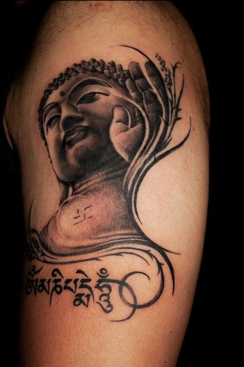Buddha And Buddhist Symbolism Tattoo On Shoulder Tattoos Book