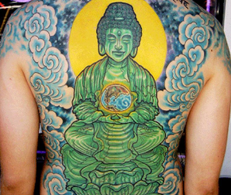 Buddha backpiece tattoo design