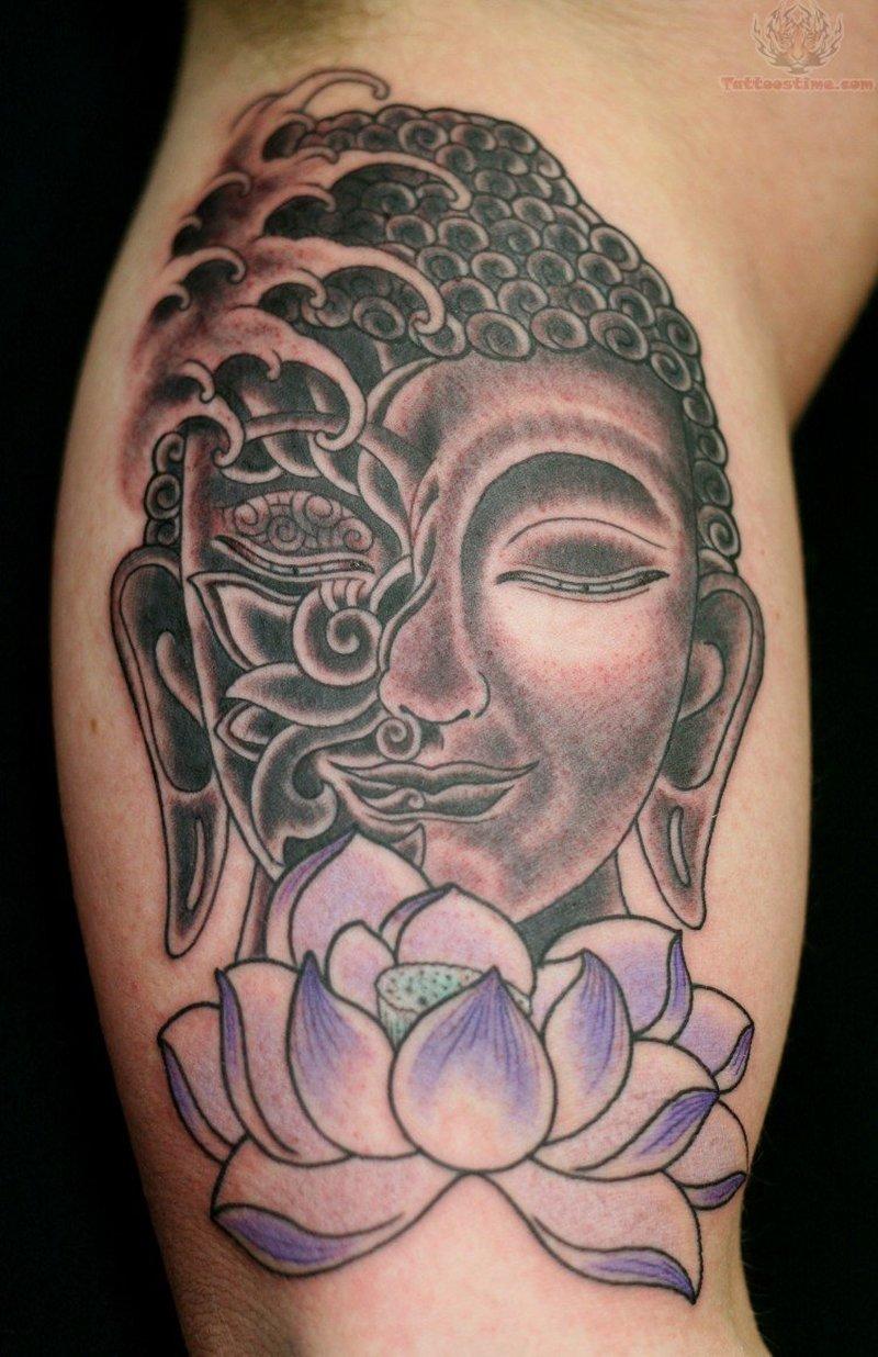 Buddha lotus tattoo