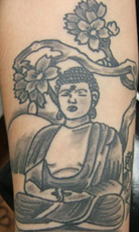 Buddha praying tattoo design
