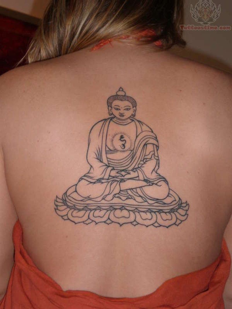 47d954c955621 Buddha tattoo on upper back - Tattoos Book - 65.000 Tattoos Designs