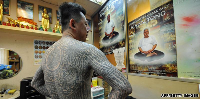 Buddhist full body tattoo design
