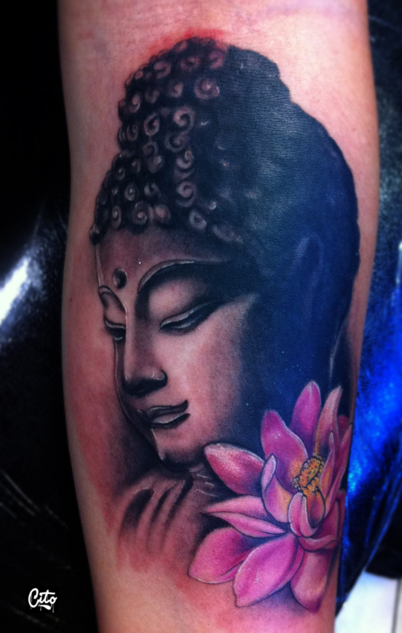 Buddhist girl tattoo